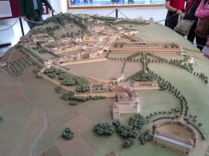 Another topographical model. This time, the model shows the complex of Hadrian's Villa as it may have originally looked. Unfortunately, we don't know a lot about some of the buildings, but this model gives a great overview of the entire, sprawling mini-city.