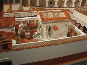 One of the coolest models from my trip. This shows a reconstruction of the Temple of Isis from Pompeii. The model is built as it would have originally looked, including the locations of all the frescoes that are located in the rooms around it at the Naples Archaeological Museum.