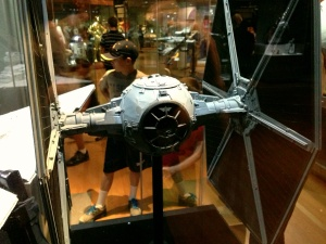Standard TIE Fighter model. The size of these models is amazing.