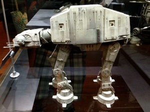 AT-AT. The weathering on these models makes them feel so real. One of the things that is so cool about the vehicles in Star Wars.